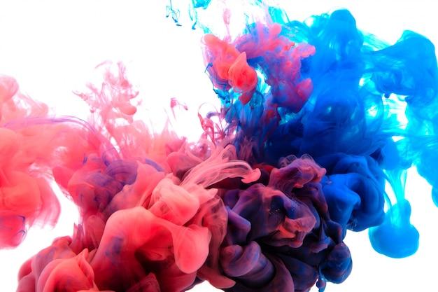 Beweging kleurdaling in water