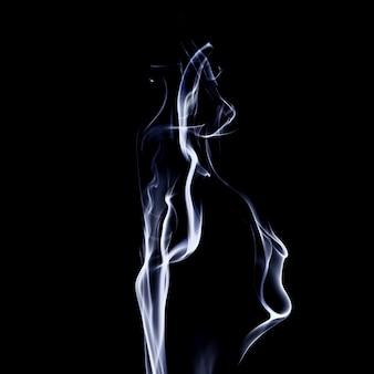 Beweging van kleurrijke rook