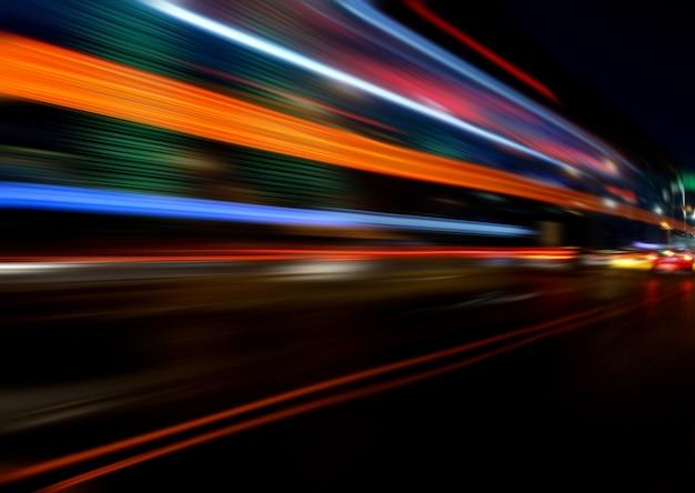 Bewegingssnelheid effect met city night