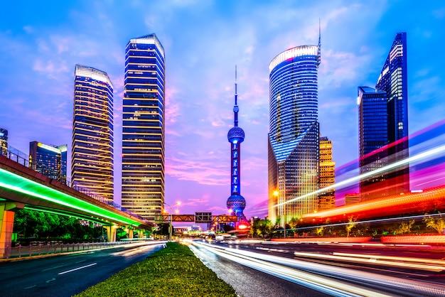 Bewegingssnelheidseffect met city night