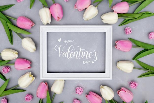 Bewerkbare valentijnsdag sjabloon