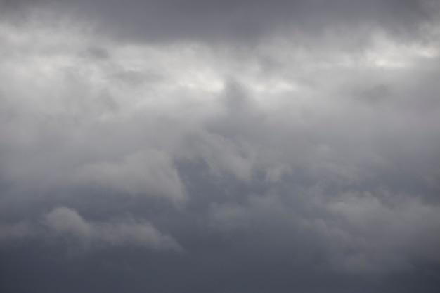 Bewolkte lucht. somber weer. grijze wolken. hoge kwaliteit foto