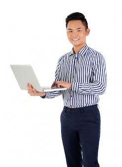 Bezig met laptop