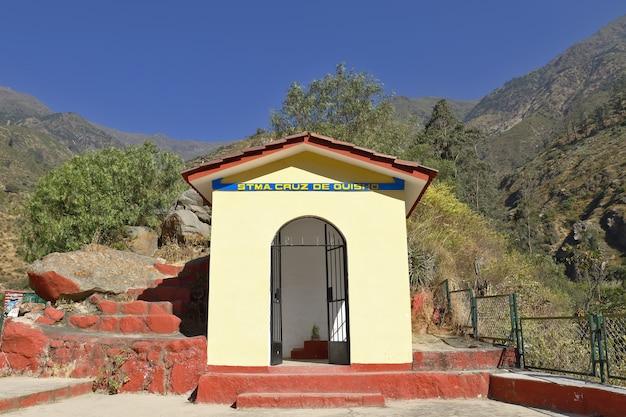 Bezoek aan het stadscentrum van san jeronimo de surco, in dit geval de kapel in het uitkijkpunt van de stad.