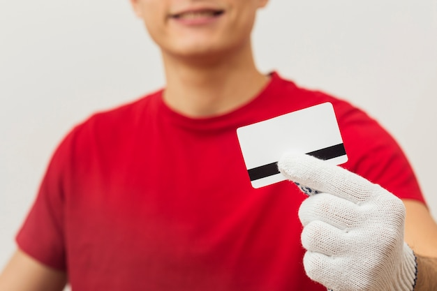 Bezorger met creditcard