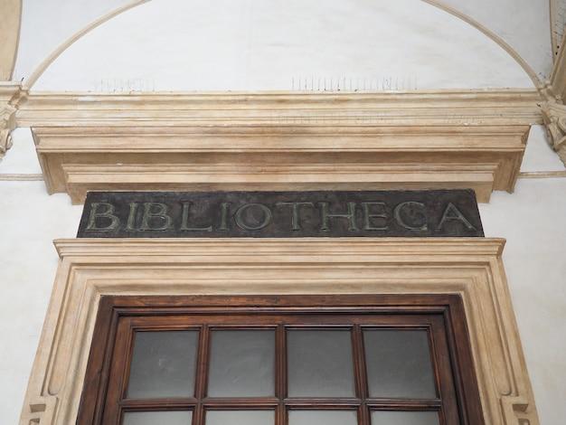Bibliotheca (bibliotheek) teken