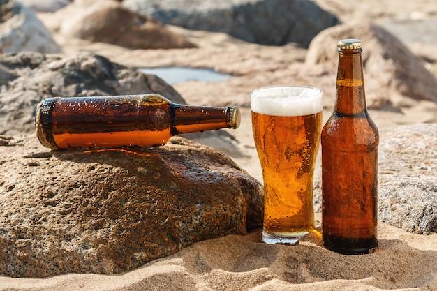 Bier op het strand