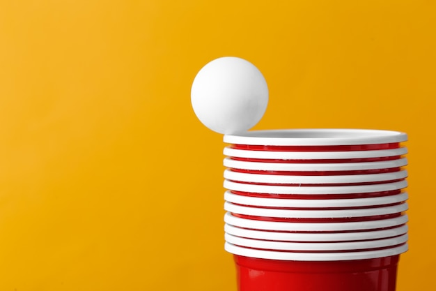 Bier pong elementen
