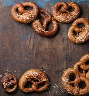 Bier snack pretzels