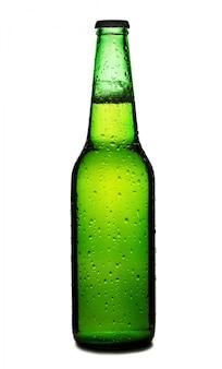Bierfles geïsoleerd