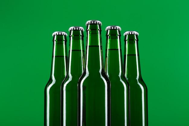 Bierfles met lage hoek