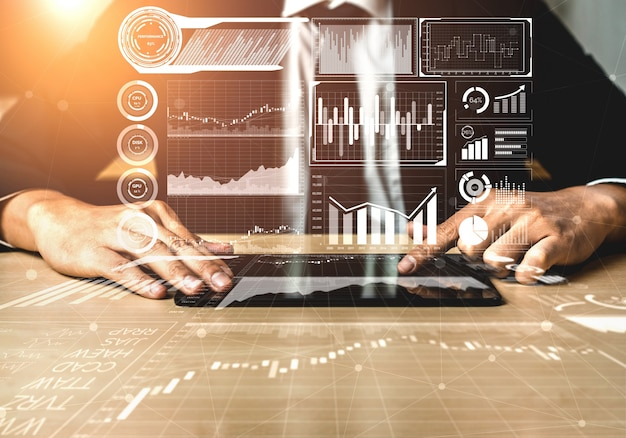 Big data-technologie voor business finance concept.