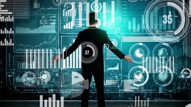 Big data-technologie voor business finance conceptueel.