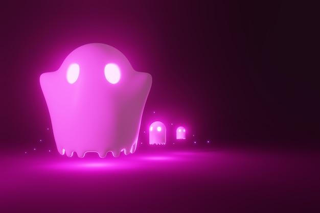 Big ghost en mini ghost lopen rond.
