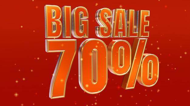 Big sale-ontwerp 70% korting op korting en speciale aanbieding-banner