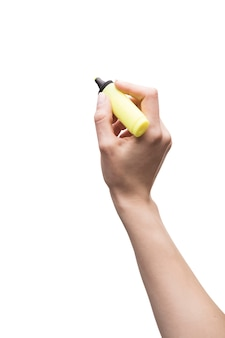 Bijsnijden hand met tekst markeerstift