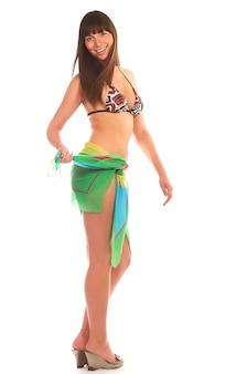 Bikini vrouw geïsoleerd
