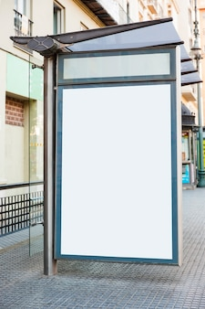 Billboard bij bushalte