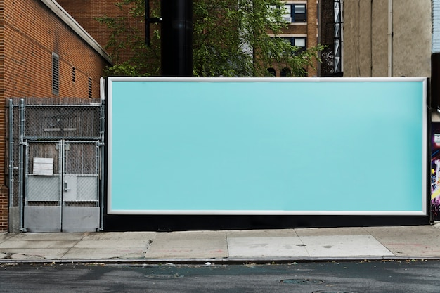 Billboard sjabloon in stedelijke omgeving