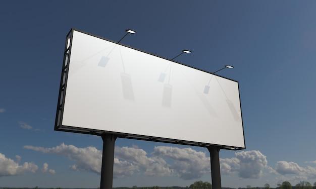 Billboard teken mockup sjabloon