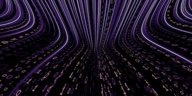 Binaire code achtergrond hacker binaire data computer hacking technologie van digitale binaire informatie