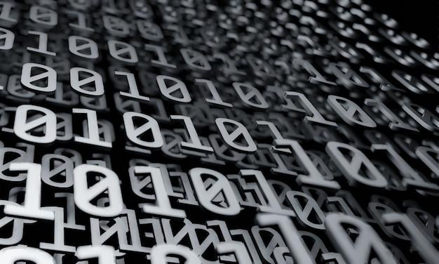 Binaire gegevens in grijstinten die op elkaar worden gestapeld