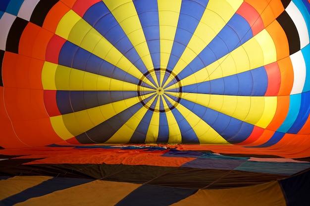 Binnen ballon hete lucht