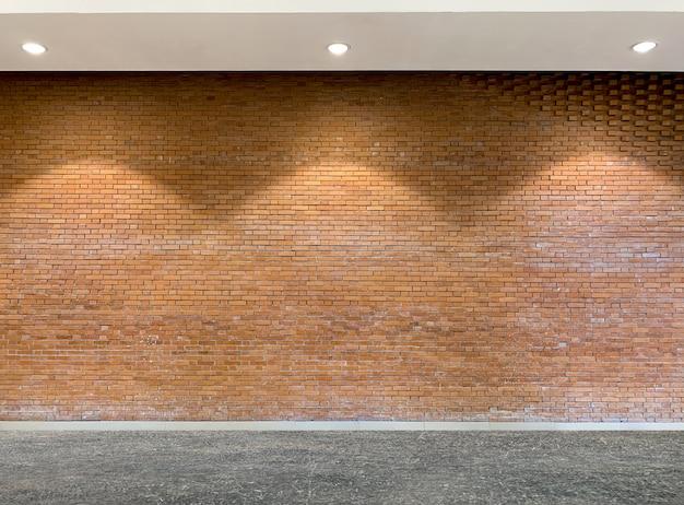 Binnenland van de oude achtergrond van de baksteentextuur