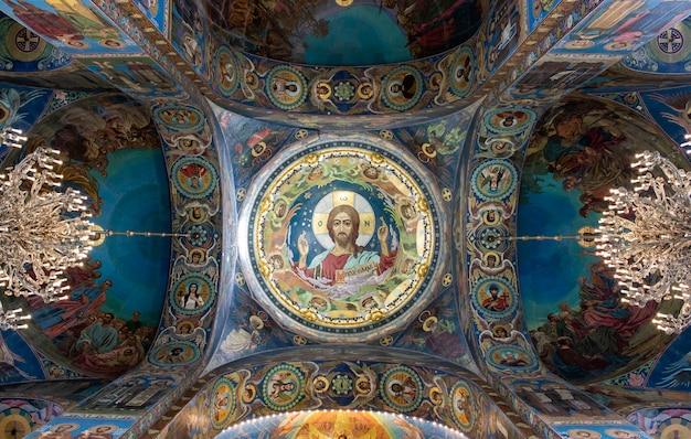 Binnenland van de st isaac cathedral in rusland.