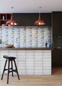 Binnenland van een moderne keuken