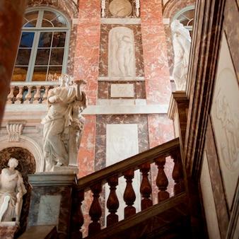 Binnenland van het drottningholm-paleis, drottningholm, stockholm, zweden