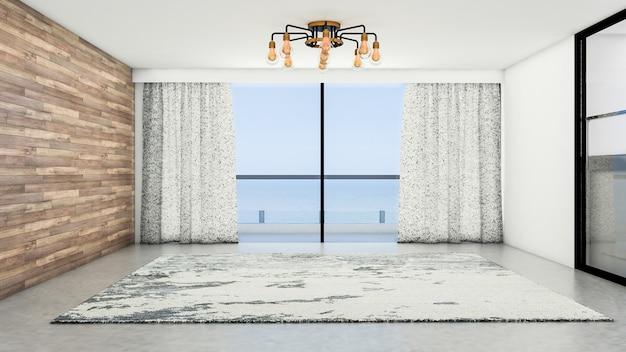 Binnenlands ontwerp van moderne ruimte