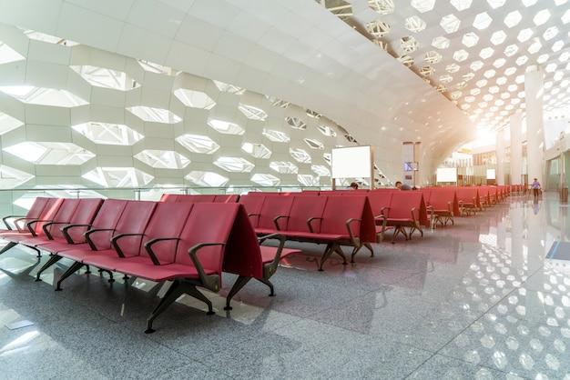 Binnenlandse mening van luchthaventerminal eindlobby