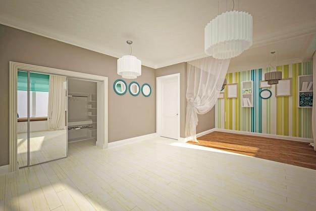 Binnenlandse ruimte leeg in moderne stijl