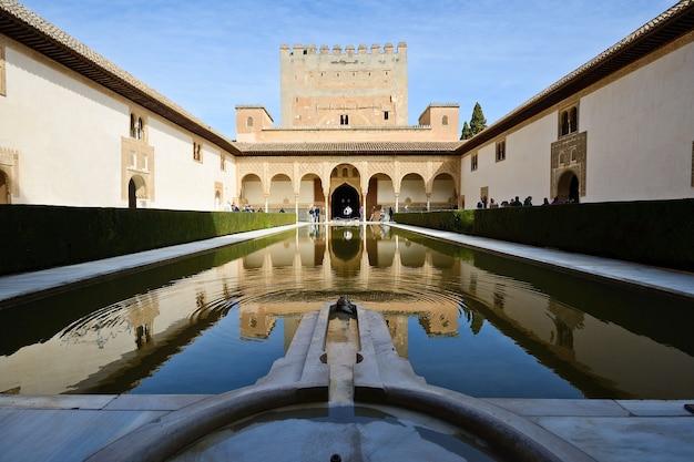Binnenplaats van de mirte in het alhambra