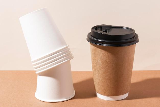 Bio kartonnen bekertjes voor koffie