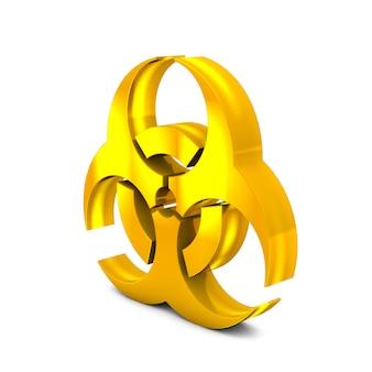 Biohazardtekenpictogram linkerkantmening het 3d teruggeven