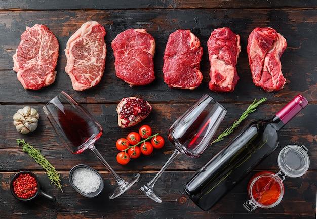 Biologisch alternatief rundvlees met wijnfles