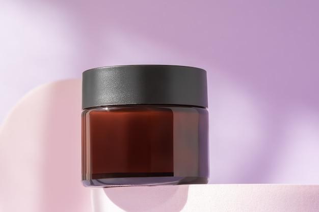 Biologische gezichtscrème cosmetische mock-up