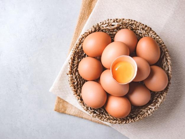Biologische kippeneieren voedselingrediënten