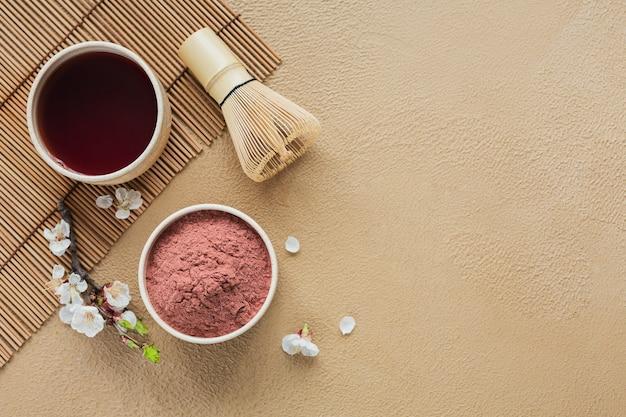 Biologische kleur poeder thee matcha