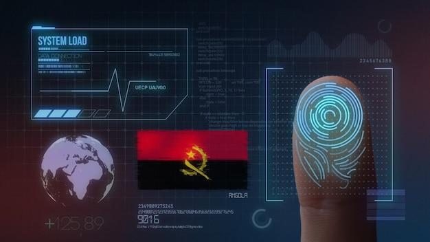 Biometrisch identificatie-systeem voor vingerafdrukken. angola nationaliteit