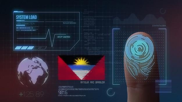 Biometrisch identificatie-systeem voor vingerafdrukken. antigua en barbuda nationaliteit