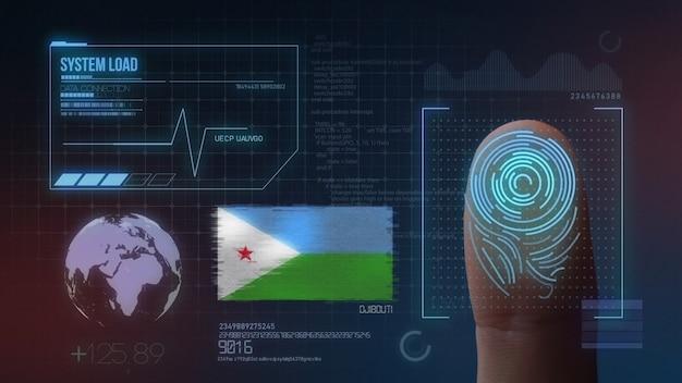 Biometrisch identificatie-systeem voor vingerafdrukken. djibouti nationaliteit