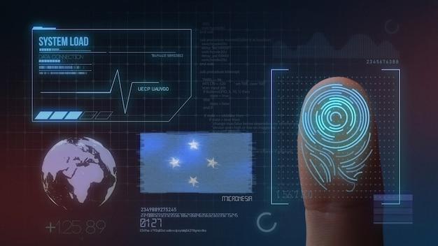 Biometrisch identificatie-systeem voor vingerafdrukken. federale staten van micronesië nationaliteit