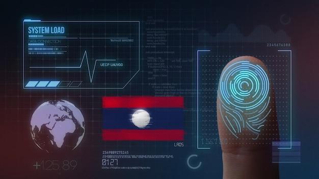 Biometrisch identificatie-systeem voor vingerafdrukken. laos nationaliteit