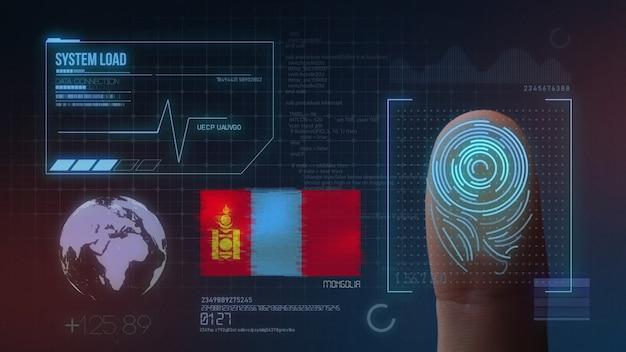 Biometrisch identificatie-systeem voor vingerafdrukken. mongolië nationaliteit