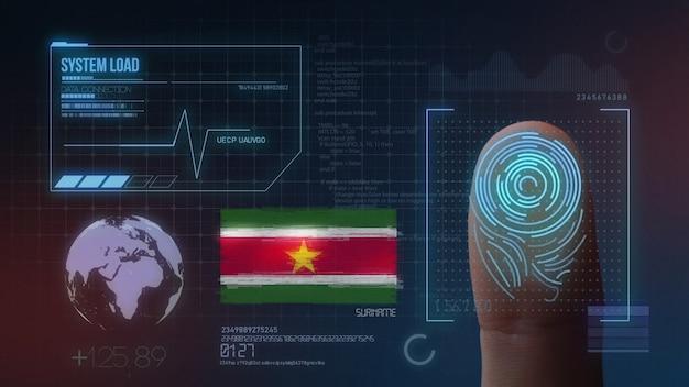 Biometrisch identificatie-systeem voor vingerafdrukken. surinaamse nationaliteit
