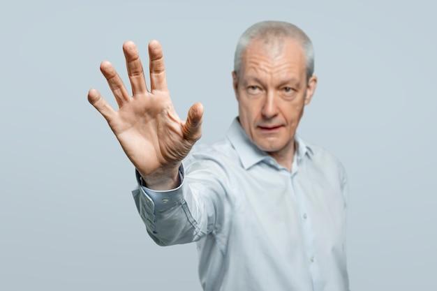 Biometrische beveiligingstechnologie voor handpalmscanbeweging