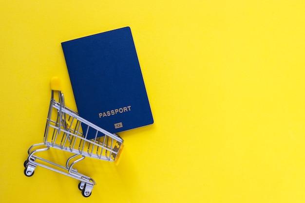 Biometrische paspoorten in mini-winkelwagentje